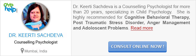 Dr Keerti Sachdeva - Counselling Psychologist at OyeHelp.com