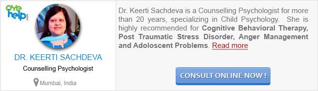Dr Keerti Sachdeva - Counselling Psychologist at OyeHelp.com